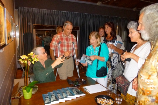 Signing books at The Ojai Art Center