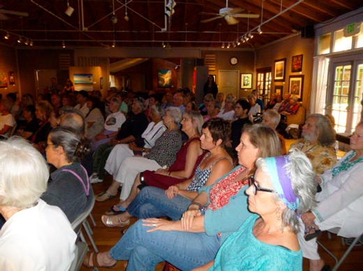 The reading at The Ojai Art Center
