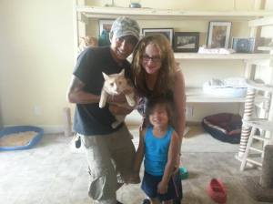 Garfield heading home with new family