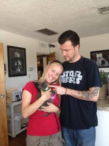 Rock adopted his new family