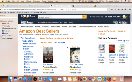 AMAZON AU #1 HISTORICAL FICTION