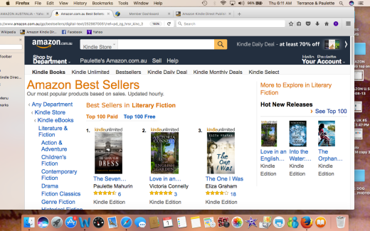 AMAZON AU #1 LITERARY FICTION Screen Shot 2017-06-01 at 6.11.45 AM
