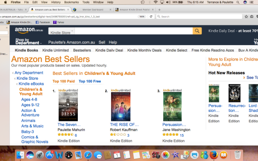 AMAZON AU #1 TEEN AND YOUNG ADULT